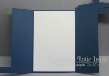 Stampin' Up! Dr Who Tardis Card ~ Open | Created by Katie Legge rachelleggestampinup.wordpress.com #DrWho #Tardis #StampinUp