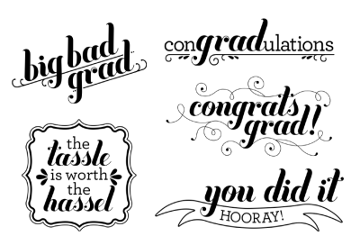 MDS to the rescue! You Go Grad Stamp Brush Set.