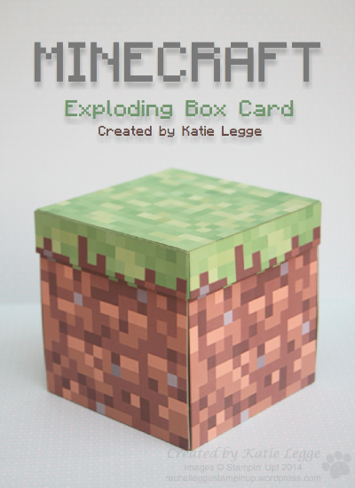 Minecraft Exploding Box Card by Katie Legge