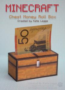 Minecraft Chest Money Roll Box by Katie Legge