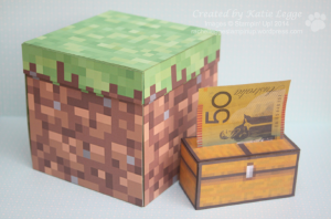 Minecraft exploding box card and chest money roll box