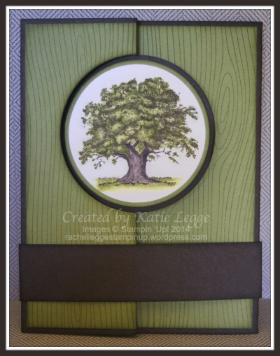 Katie Legge Stampin' Up! Lovely As A Tree Flip Card