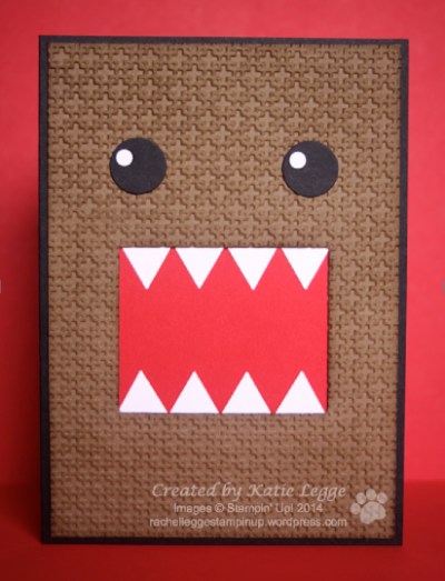 Stampin' Up! Domo Card by Katie Legge