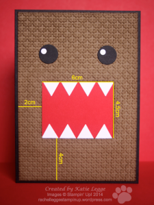 Stampin' Up! Domo Card by Katie Legge - Dimensions