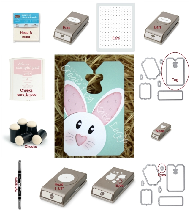 Products needed for Easter bunny tag