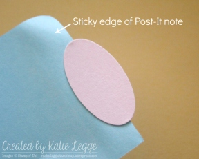 Stick punched oval onto sticky edge of Post-It note so you can slide oval back into punch
