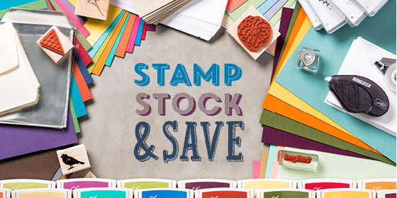 stamp stock and save header
