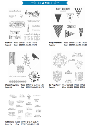 Stamp Stock and Save Stamp Sets Katie Legge