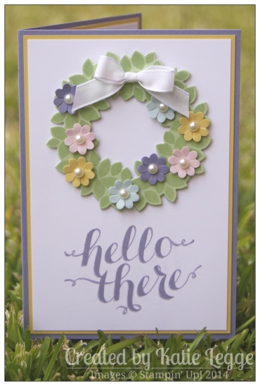 Stampin Up Hello There Spring Card by Katie Legge