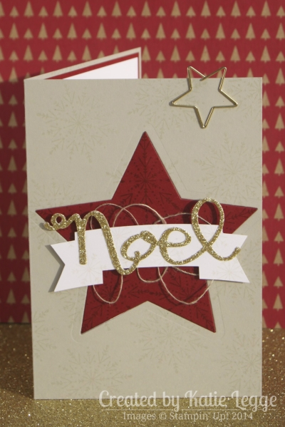 Katie Legge Stampin Up Many Merry Stars Ornament in a Card 2