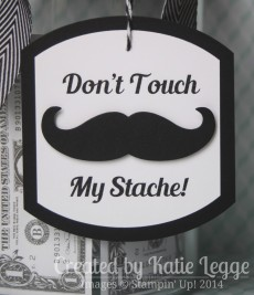 Katie Legge Stampin Up Mustache Framelit Don't Touch My Stache Jar Jar Closeup www.rachelleggestampinup.wordpress.com
