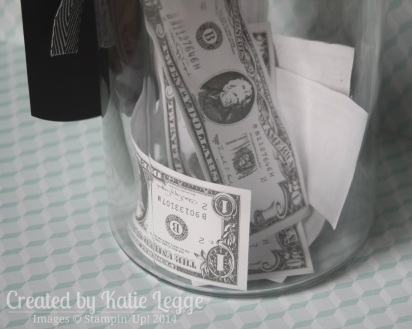 Katie Legge Stampin Up Mustache Framelit Don't Touch My Stache Jar Money Closeup www.rachelleggestampinup.wordpress.com