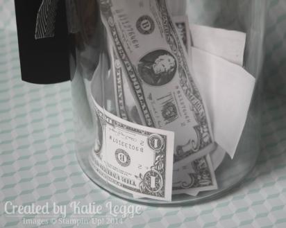 Katie Legge Stampin Up Mustache Framelit Don't Touch My Stache Jar Money Closeup www.rachelleggestampinup.wordpress.com