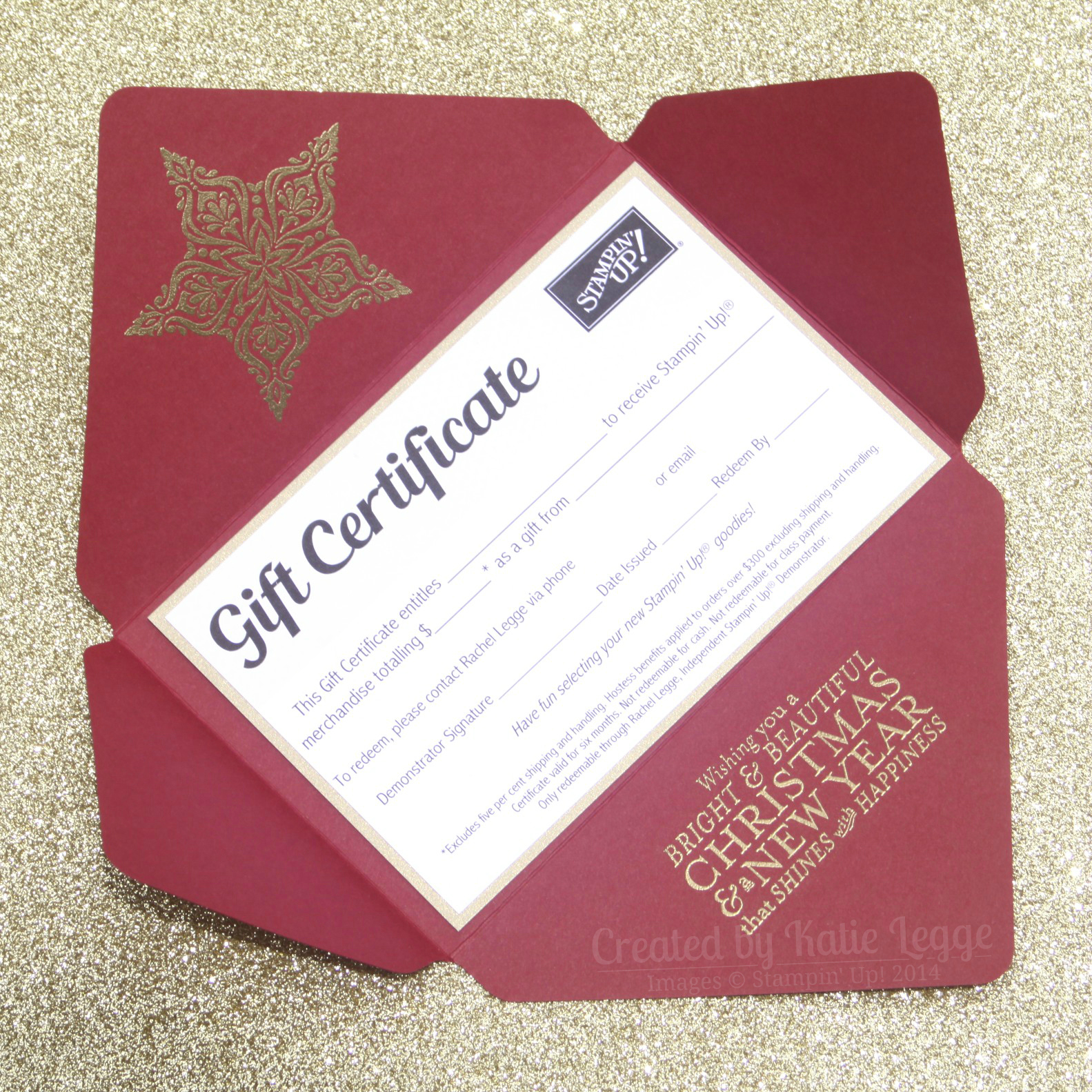stampin up christmas gift certificate envelope open katie and 1583 times 1583 in gift certificates