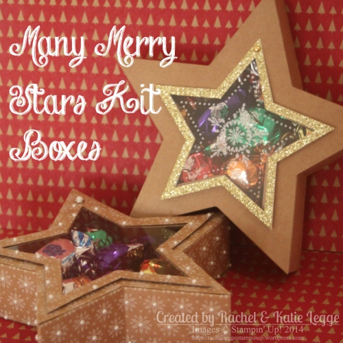 Stampin' Up! Many Merry Stars Kit Star Boxes | Created by Rachel Legge rachelleggestampinup.wordpress.com