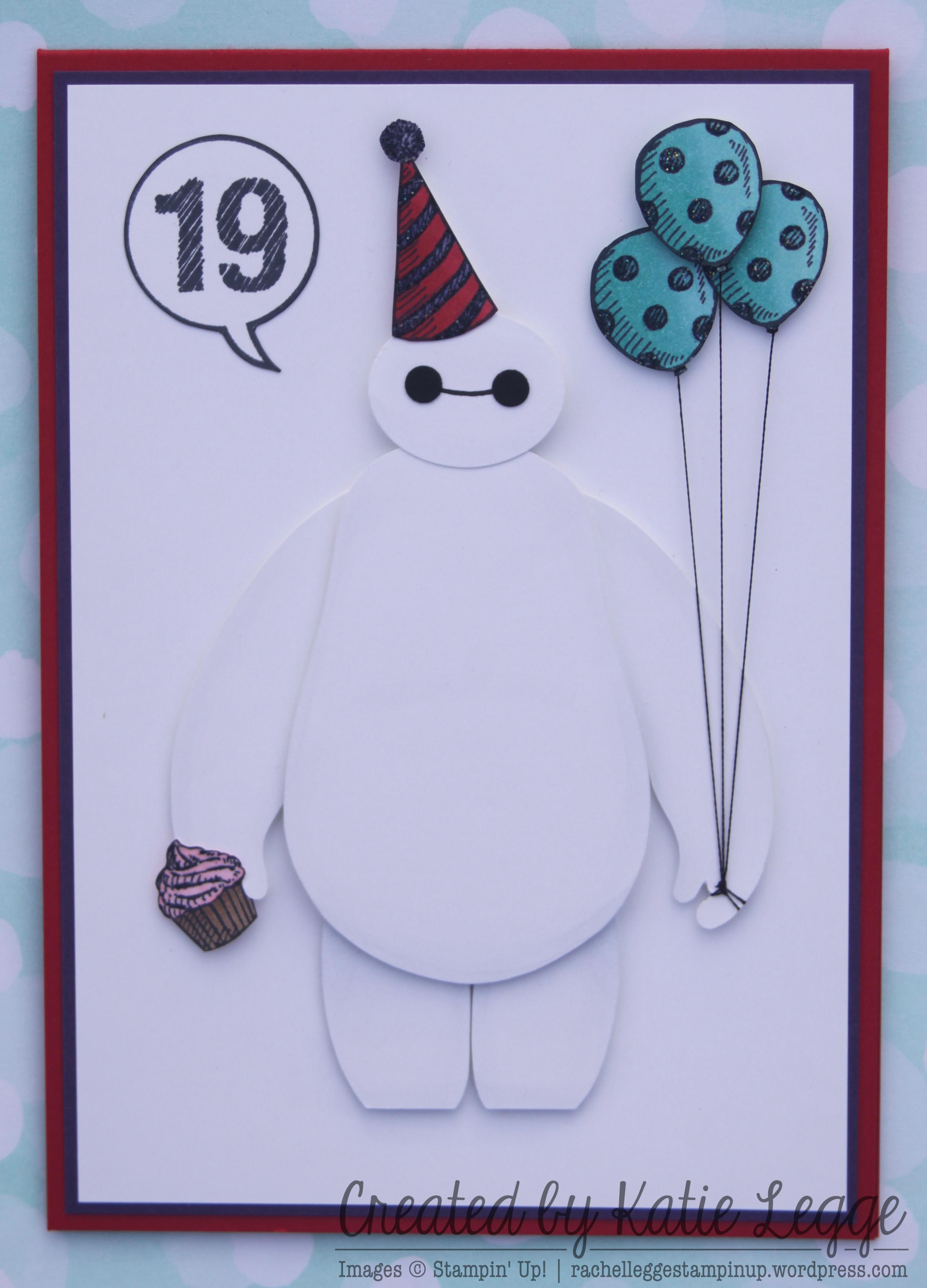 Big Hero Six Baymax Birthday Card – Happy 19th Birthday Cards