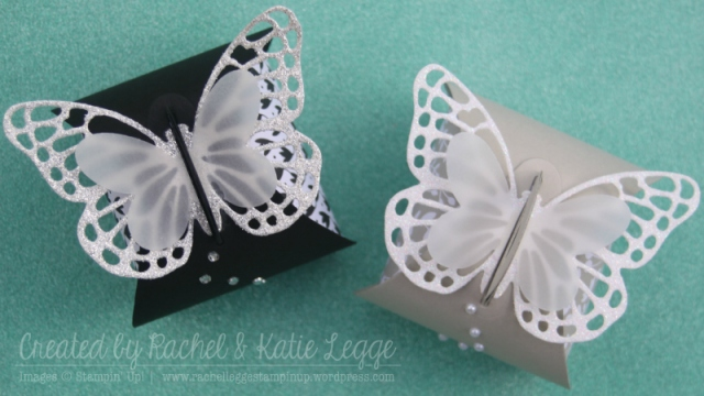 Stampin' Up! Butterfly Thinlits Curvy Keepsake Box | Gold Coast Convention 2015 Swaps | Back to Black and Something Borrowed DSP | Created by Rachel and Katie Legge rachelleggestampinup.wordpress.com