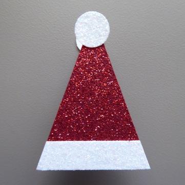 Santa hat treat topper