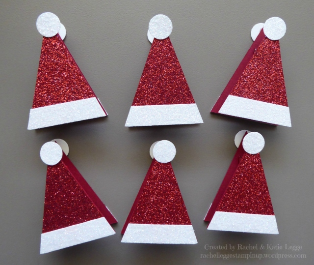 Stampin' Up! Simple Santa Hat Treat Toppers | Created By Rachel and Katie Legge