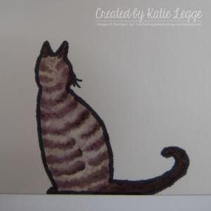 Katie Legge Fancy Fold Cat in the Door Card - Cat Closeup rachelleggestampin.wordpress.com