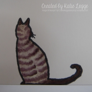 Katie Legge Fancy Fold Cat in the Door Card - Cat Closeup rachelleggestampin.wordpress.com