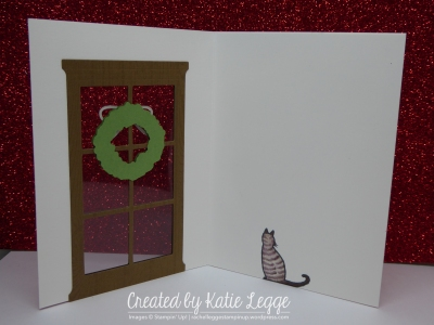 Katie Legge Fancy Fold Cat in the Door Card Inside rachelleggestampin.wordpress.com