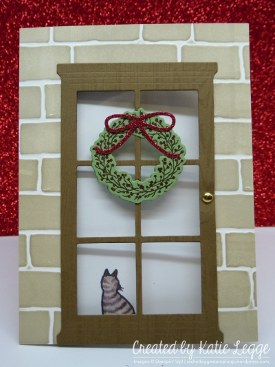 Katie Legge Fancy Fold Cat in the Door Card rachelleggestampin.wordpress.com