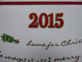 Stampin' Up! Jingle All the Way Christmas Scrapbook Layout | Page Year Closeup | Created by Katie and Rachel Legge