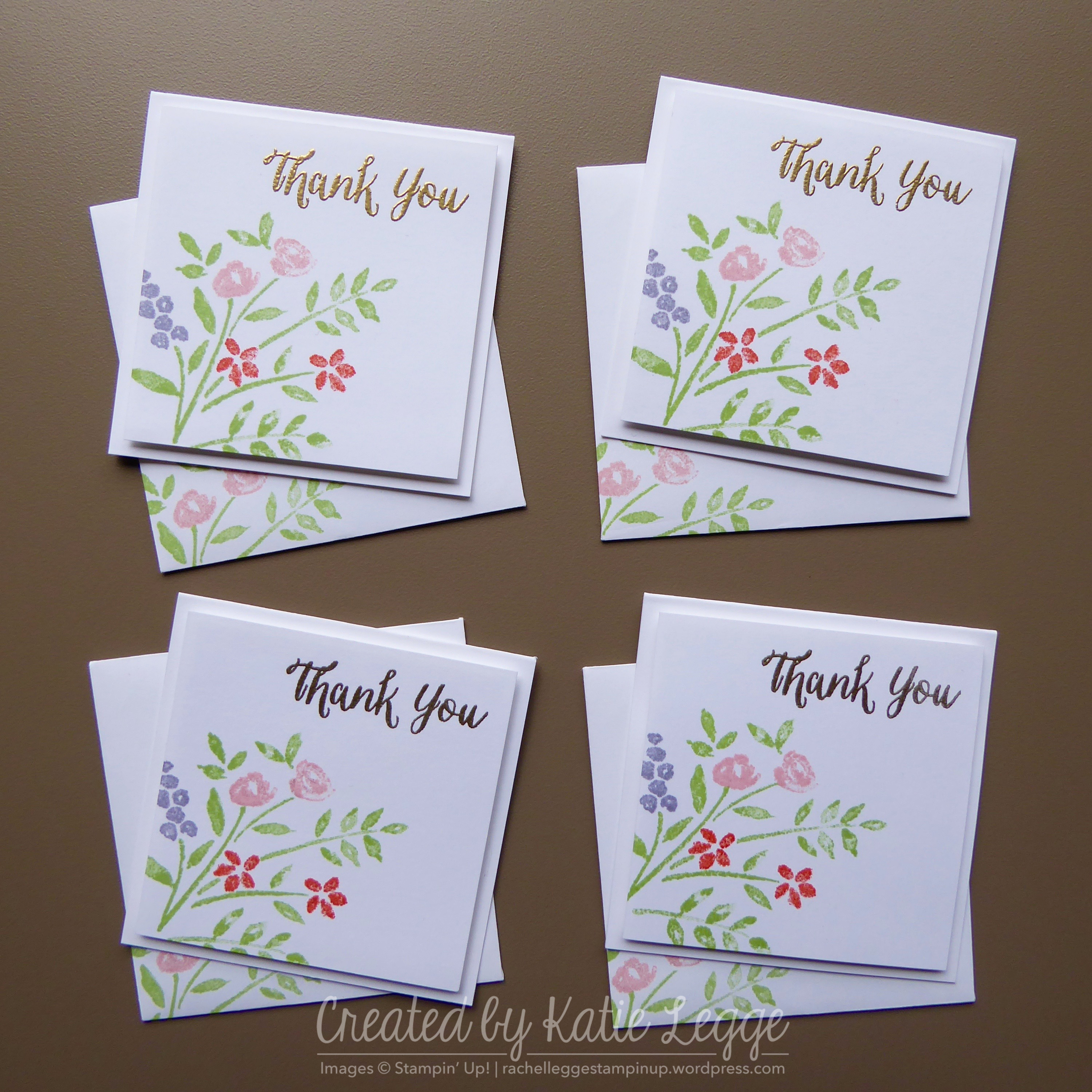 stampin up simple thank you mini 3 3 22 card using the new